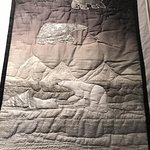 Quilted arctic scene, polar bears, The Port Theatre , 125 Front St, Nanaimo, British Columbia