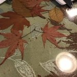 Fall leaves decorating tables Trees Restaurant, 1385 Alberni Hwy, Parksville, BC