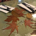 Beautiful fall leaves, Trees Restaurant, 1385 Alberni Hwy, Parksville, BC