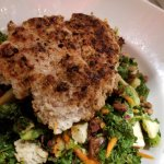 Salad with chicken burger