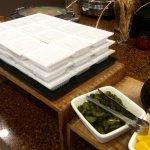 World Cafe breakfast - natto