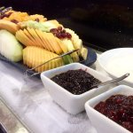World Cafe breakfast - fresh fruits, yogurt & jam