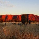 The morning sunrise at Uluru was a visual sensation.