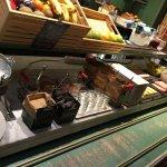 Espace petit déjeuner avec choix limité