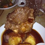 The rare roast beef at Sun, Feering, Essex 22 Oct 2017 c 2045 local