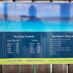 Timetable for the boat