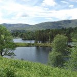 Tarn Hows with Langdale Pikes in the background