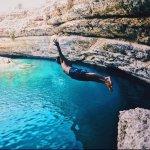 Bimmah Sink hole small level rock jump
