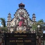 the sacred heart of Jesus church in Palasari Negara Bali