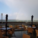 Storm Brian moves in over the outside bar area