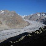 Vue du glacier d'Aletsch depuis Moosfluh