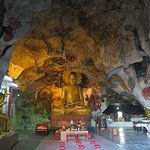 Several caves with Buddha images
