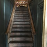 Entrance staircase leads to the book shop.