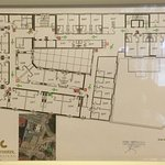 Hotel Room Map. Rooms across the bottom are on the busier street.