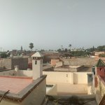 View of city from rooftop