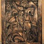 Икона сделанная мастером из дерева