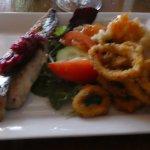 Seafood platter entree