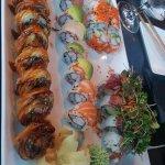 Yummy goodness assorted sushi