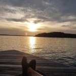 Beautiful sunsets relaxing on the dock