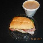 soup/ sub, 8 bucks