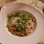 Mushroom Risotto with ruccola and walnuts