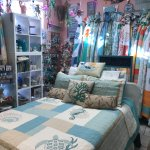 Our favorite space is in the back with blankets & pillows & other such items. Don't miss looking