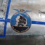 Gruß aus Europa, dass alte Logo des Fliegenden Holländers (KLM) auf einer Douglas C-47.