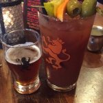 Famous Bloody Mary with beer chaser