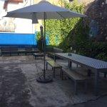 The garden/patio