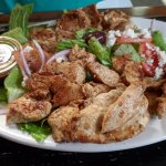 Chicken Shawarma Plate with Salad