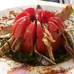 Valencian Tomato stuffed with anchovies and tuna