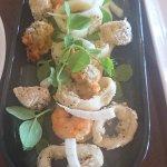 salt and pepper seafood entree