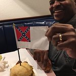 If you pick a burger off of the confederate side of the burger...