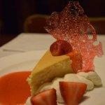 Cheesecake Gert - Gert's favorite recipe on a vanilla citrus biscotti crust, & fresh strawberrie