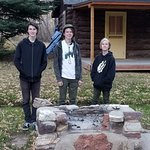 Brady, Colby and Josh Hartog behind a BBQ built by my Grandfather Charles N. Norris late 50's.