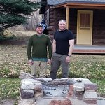 Grandson's of C.H. Norris, who built the BBQ in the late 50's Bennett Ranch, Sheep Creek, Ut.