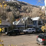 This is the Victorian Inn in Telluride. Notice street closure due to construction. That leaves v