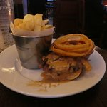 Tasty pub fare. Onion rings and chips.