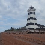 The lighthouse on the beach.