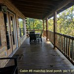 Cabin #8 length of porch (1 of 2)