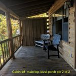 Cabin #8 length of porch (2 of 2)