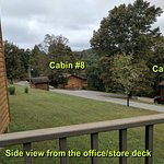 Proximity of Cabins 7 and 8 to the office.