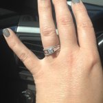 Two beautiful bands to set off my already gorgeous solitaire!!