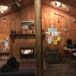 """1000 Trails Bend Sunriver RV campground (TTRV) Town Center """"Saloon"""" with WiFi & a nice gas/firep"""