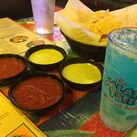 Chips, salsa, dips and margs