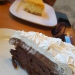 Torta de chocolate y cheesecake de naranja