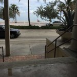 View from lunch table to the beach!