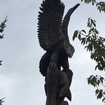 Eagle carving, Driftwood Restaurant 4329 Island Hwy S, Campbell River, British Columbia