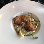 Seared Scallops, Masthead Restaurant , 1705 Cowichan Bay Rd., Cowichan Bay, British Columbia