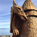 Dragon wood carving, Salmon Point Restaurant, 2158 Salmon Point Rd, Campbell River, BC